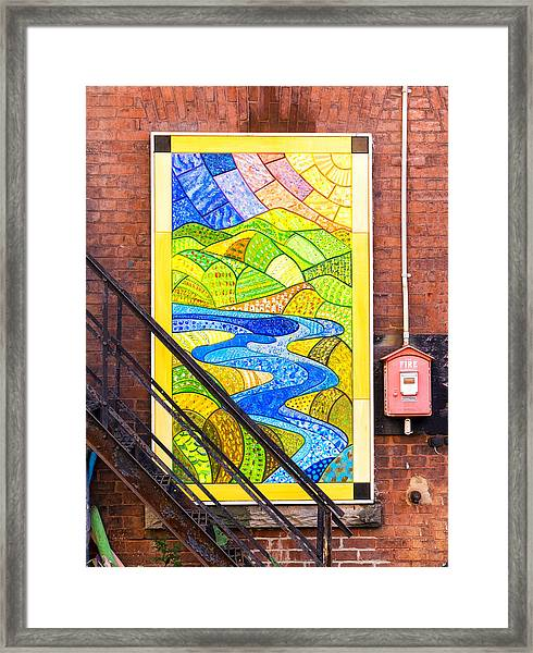 Art And The Fire Escape Framed Print
