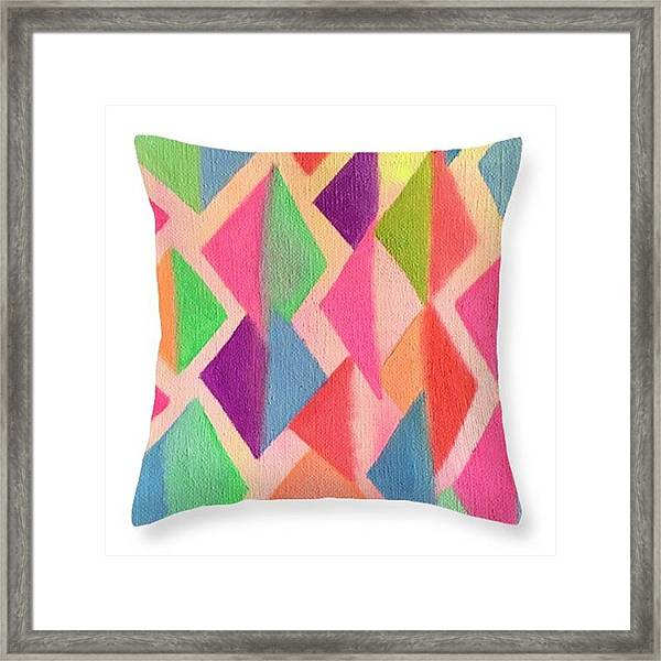Art Cushion By Kanako Kumamaru 2018 Framed Print