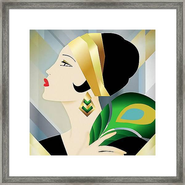 Roaring 20s Flapper Framed Print