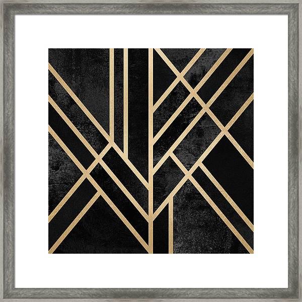 Art Deco Black Framed Print
