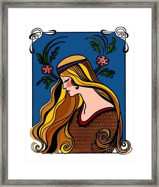 Art Deco Greeting Card Framed Print