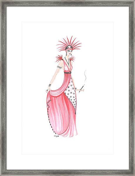 Art Deco Lady - Adele Framed Print