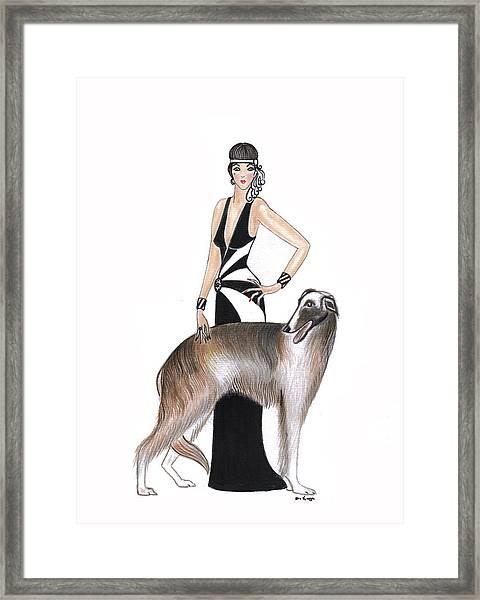 Art Deco Lady - Katarina And Tsar Framed Print