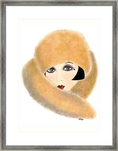 Art Deco Lady - Vivian Framed Print
