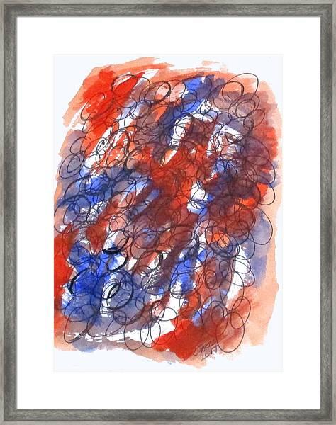 Art Doodle No. 28 Framed Print