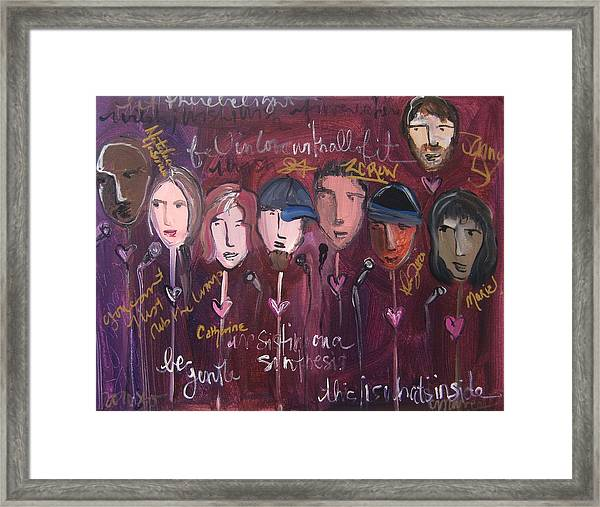 Framed Print featuring the painting Art From Ashes 2010 by Laurie Maves ART
