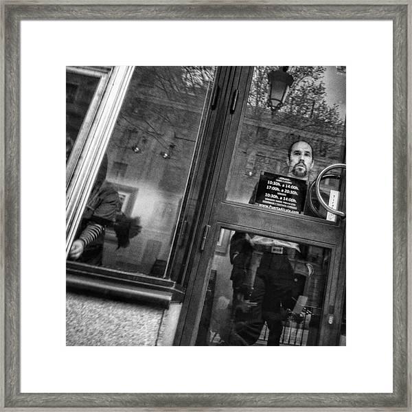 Art Gallery #man #portrait #window Framed Print