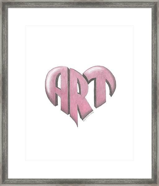 Art Heart Framed Print