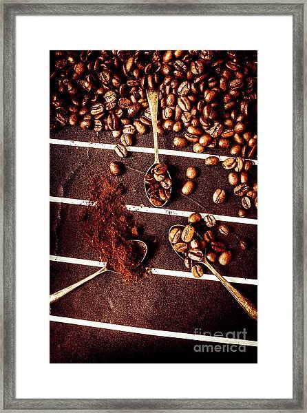 Art In Coffee Process  Framed Print
