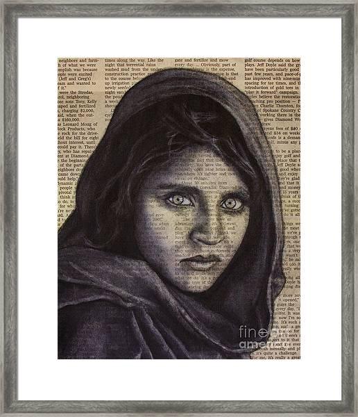 Art In The News 64-afghan Girl Framed Print