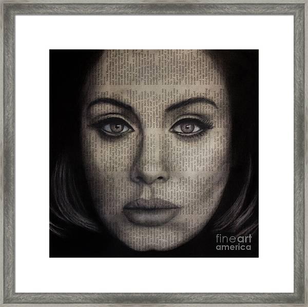 Art In The News 72-adele 25 Framed Print