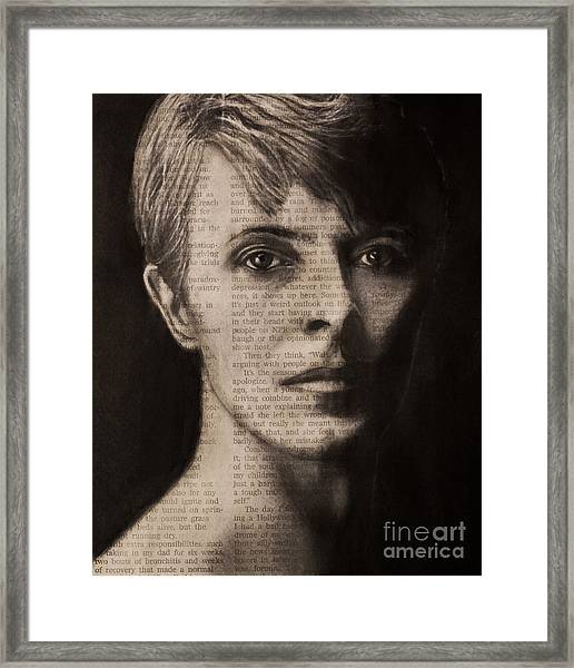 Art In The News 78-bowie Framed Print