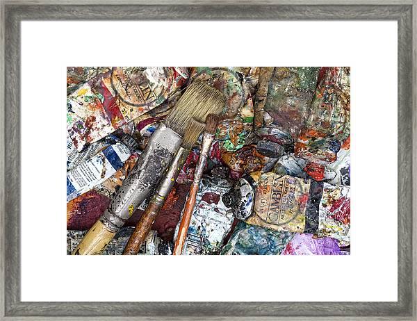 Art Is Messy 5 Framed Print