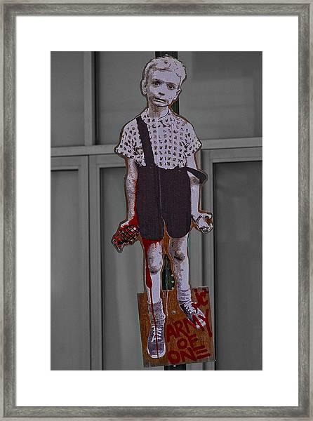 Art Lower Manhattan Appropriated Diane Arbus Photo Framed Print