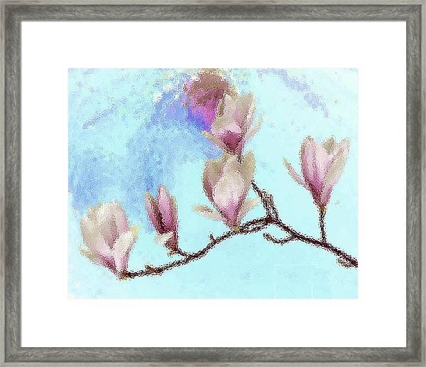 Art Magnolia Framed Print