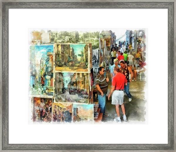 Art Market Framed Print