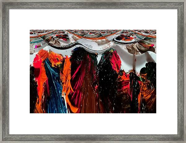 Art News Room Framed Print