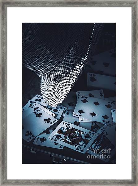 Art Of A Betting Man  Framed Print