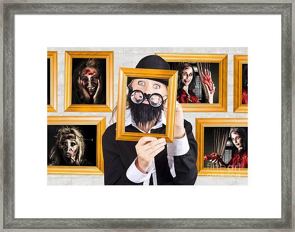 Art Of Halloween Horror Framed Print