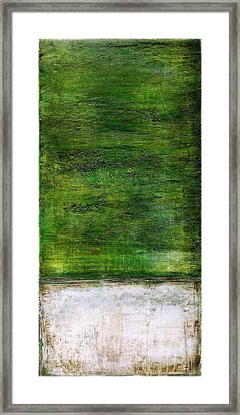 Art Print Green White Framed Print