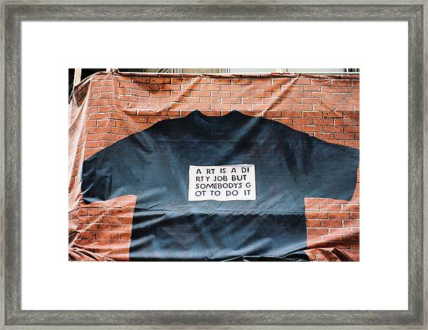 Art Shirt Framed Print