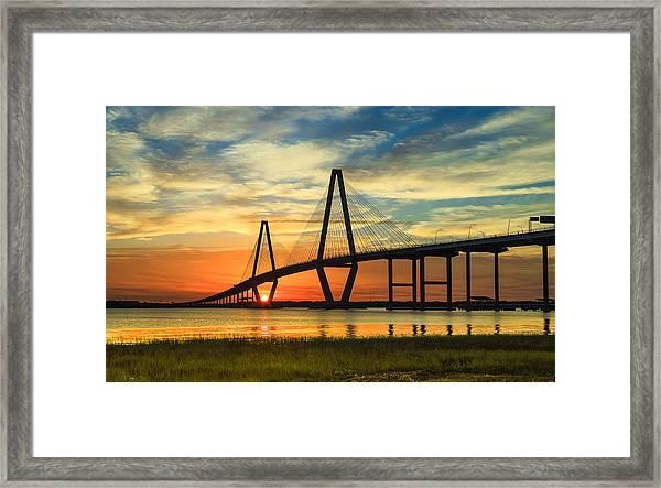 Arthur Ravenel Jr. Bridge - Charleston Sc Framed Print