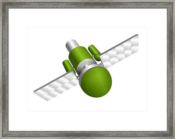 Artificial Satellite Framed Print