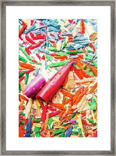 Artistic Disruption Framed Print