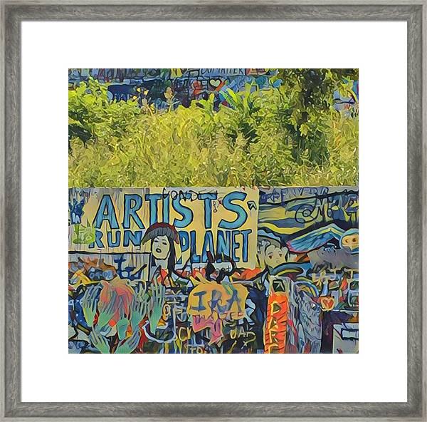 Artists Run The Planet Framed Print