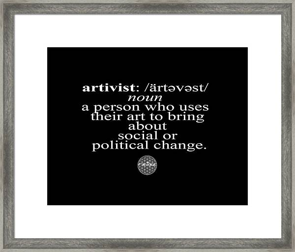 Artivism Framed Print