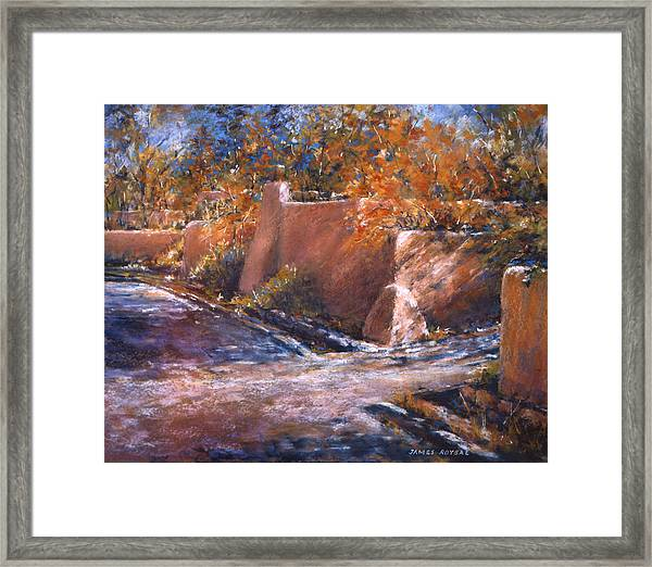 asequia Madre in Fall Framed Print by James Roybal