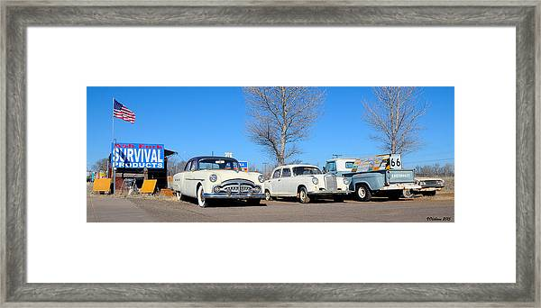 Ash Fork Vintage Cars Along Historic Route 66 Framed Print