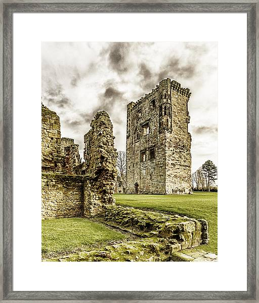Framed Print featuring the photograph Ashby Castle by Nick Bywater