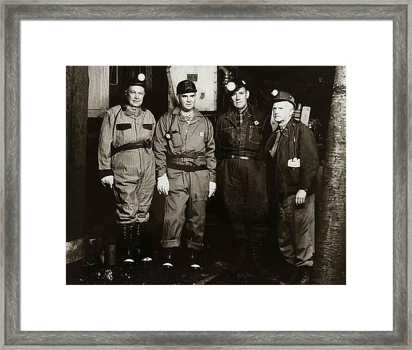 Ashley Pa  Glen Alden Coal Co  Huber Coal Breaker 1962 Framed Print