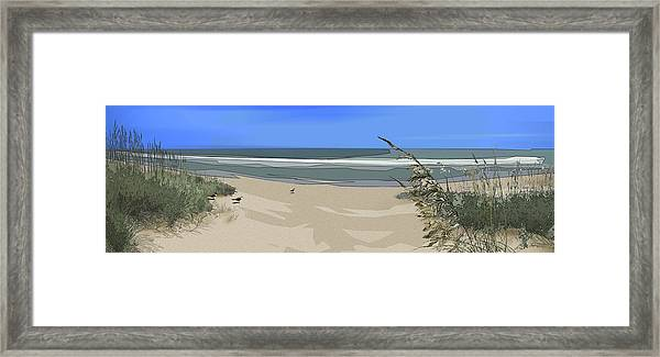 Framed Print featuring the digital art Ashore by Gina Harrison