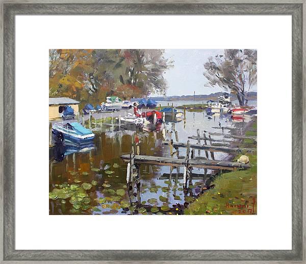 Ashville Bay Marina Framed Print