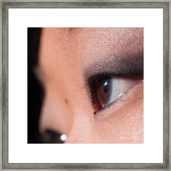 Asian Girl Eyes 1283053 Framed Print