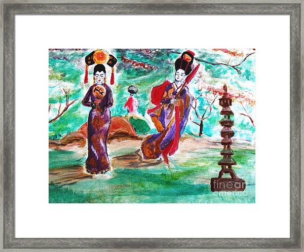 Asian Lovelies Framed Print
