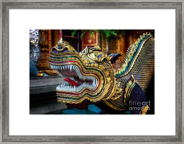Asian Temple Dragon Framed Print