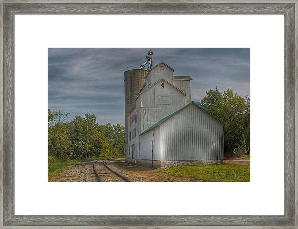 2008 - Aside The Tracks In Mayville Framed Print