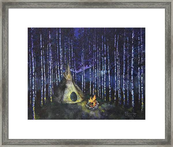Aspen Camp Framed Print