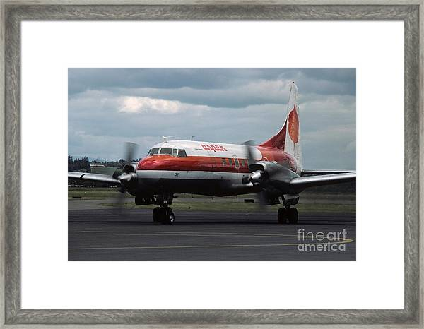 Aspen Convair 580 Framed Print