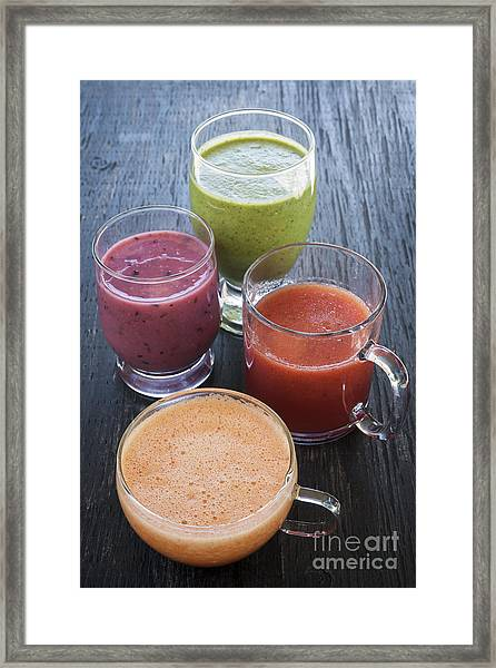 Assorted Smoothies Framed Print