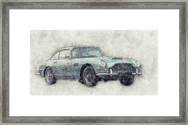 Aston Martin Db5  1- Luxury Grand Tourer - Automotive Art - Car Posters Framed Print