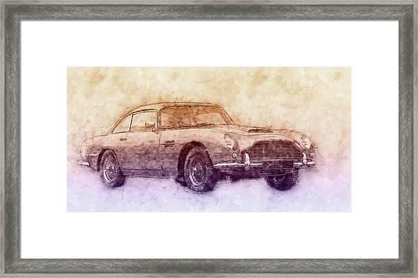 Aston Martin Db5 2 - Luxury Grand Tourer - Automotive Art - Car Posters Framed Print