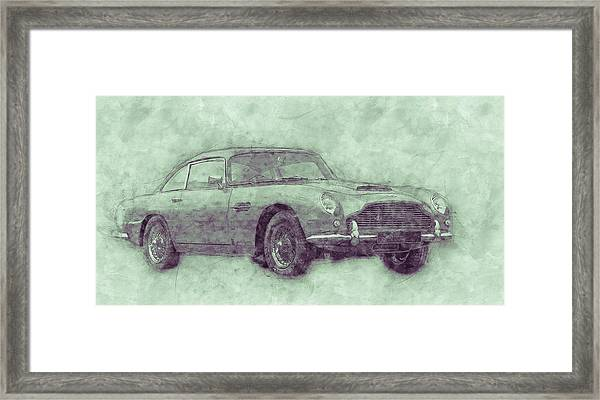 Aston Martin Db5 3 - Luxury Grand Tourer - Automotive Art - Car Posters Framed Print