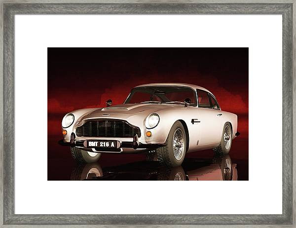 Framed Print featuring the painting Aston Martin Db5 by Jan Keteleer