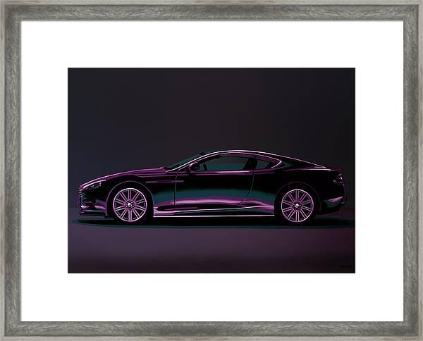 Aston Martin Dbs V12 2007 Painting Framed Print