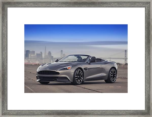 Aston Vanquish Convertible Framed Print
