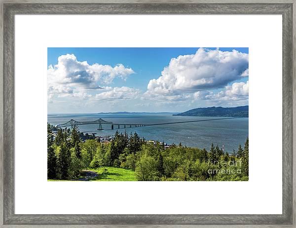Astoria - Megler Bridge Framed Print